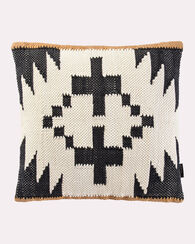 SPIDER ROCK WOVEN CHINDI PILLOW, BLACK/IVORY, large
