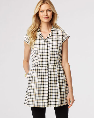 FIT AND FLARE TUNIC, TATTERSAL CHECK, large