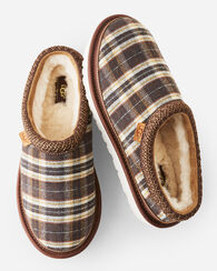 TASMAN PLAID SLIPPERS, CHESTNUT, large