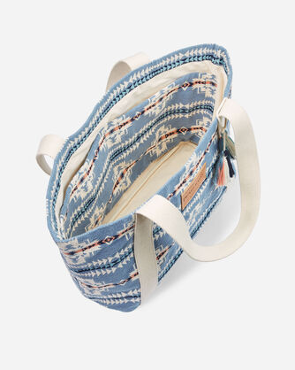 ALTERNATE VIEW OF CHIEF JOSEPH TOTE IN TURQUOISE HEATHER