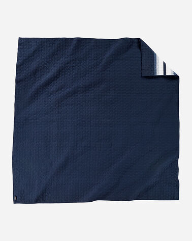ALTERNATE VIEW OF CHIEF STAR PIECED QUILT SET IN NAVY