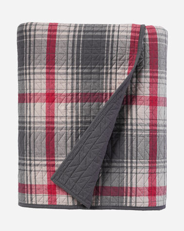 RIDGEWAY PLAID QUILT SET, GREY, large