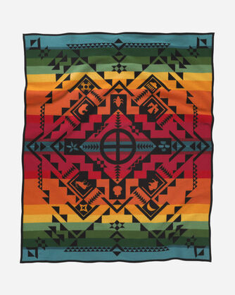 SHARED SPIRITS BLANKET, BLACK MULTI, large