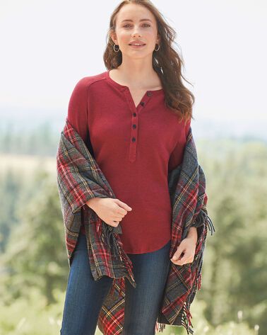 BETTER THAN BASIC HENLEY, RED ROCK HEATHER, large