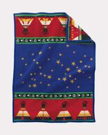 CHIEF'S ROAD CRIB BLANKET, BLUE, large