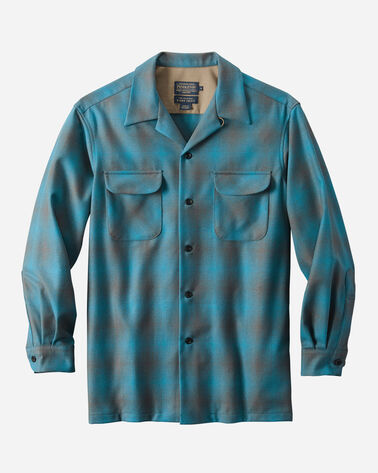 MEN'S BIG BOARD SHIRT, BLUE/GREY SHADOW PLAID, large