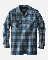 MEN'S BOARD SHIRT, BLUE ORIGINAL SURF PLAID, large