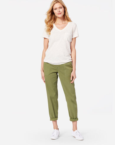 CHINO TWILL PANTS IN OLIVE