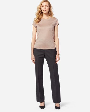 SEASONLESS WOOL TRUE FIT TROUSERS IN OXFORD MIX