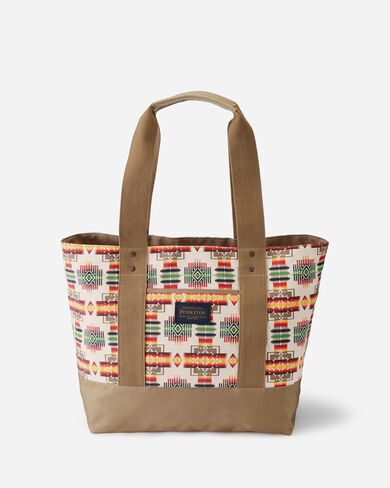 CHIEF JOSEPH CANOPY CANVAS TOTE IN IVORY