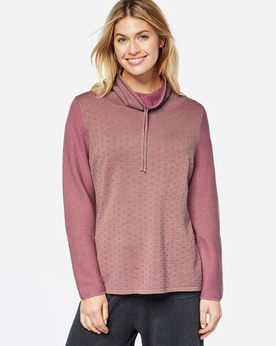 LONG-SLEEVE MOCKNECK PULLOVER, JELLY BEAN, large