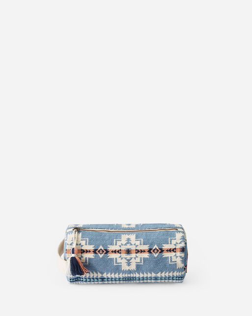 CHIEF JOSEPH COSMETIC BAG IN TURQUOISE HEATHER