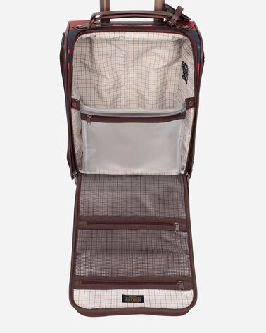 ALTERNATE VIEW OF SPIDER ROCK ROLLING UNDERSEAT CARRY-ON IN RUST/NAVY