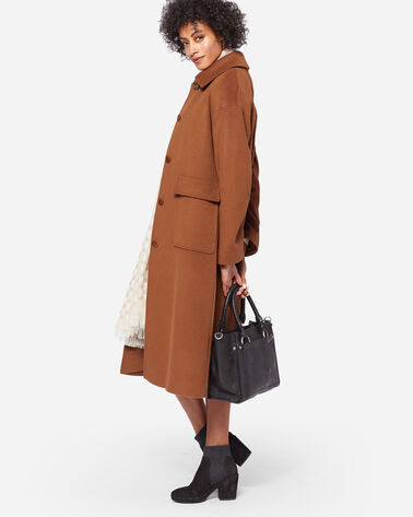 LONG WOOL COAT, VICUNA, large