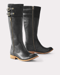 KNEE-HIGH LEVIN BUCKLE BOOTS, RUM/SIENNA, large