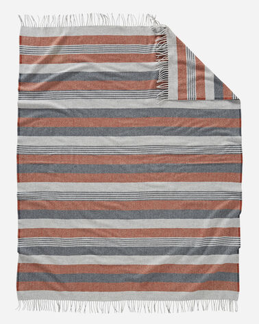 HORIZON STRIPE LAMBSWOOL THROW, COPPER SUNRISE, large