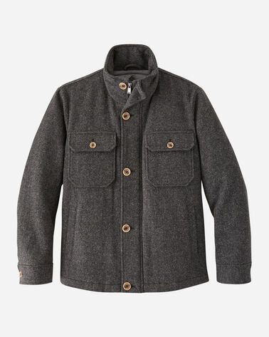 MEN'S ANCHORAGE WOOL DOWN JACKET IN ASH GREY