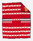 ALTERNATE VIEW OF GRATEFUL NATION BLANKET IN RED MULTI