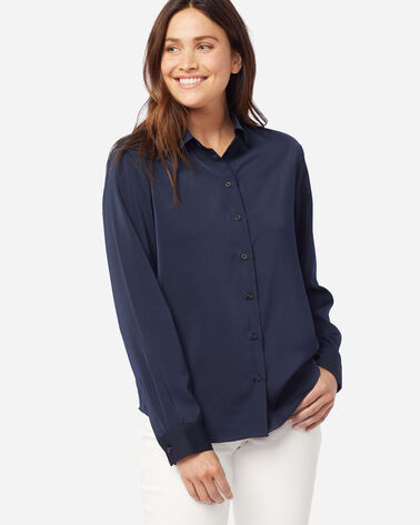 WOMEN'S SOFT BUTTON SHIRT IN MIDNIGHT NAVY