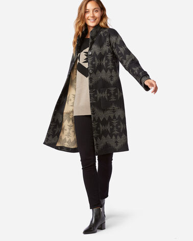 ALTERNATE VIEW OF WOMEN'S SONORA ARCHIVE BLANKET COAT IN BLACK SONORA