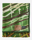 CHIHULY BLANKET #18, GREEN/YELLOW, large