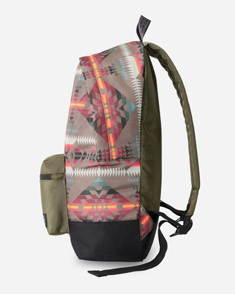 ALTERNATE VIEW OF BASKET MAKER CANOPY CANVAS BACKPACK IN OLIVE