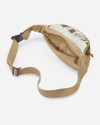 ALTERNATE VIEW OF HARDING CANOPY CANVAS WAIST PACK IN AQUA