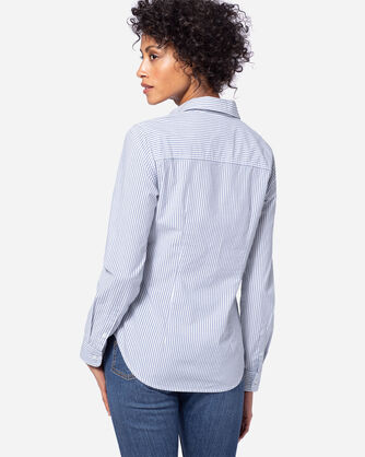 ADDITIONAL VIEW OF WOMEN'S AUDREY FITTED STRIPE SHIRT IN BLUE/WHITE