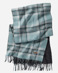 REVERSIBLE ALPACA SCARF, SHALE PLAID, large