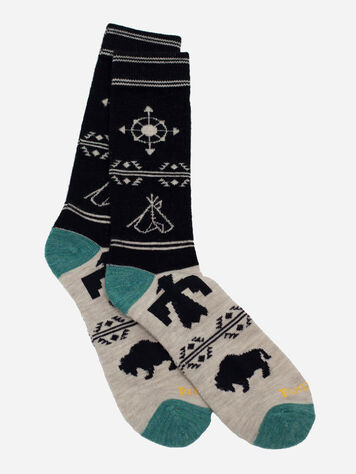 NAVIGATOR CAMP SOCKS IN BLACK