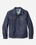 MEN'S DENIM AND WOOL JACKET IN DARK DENIM