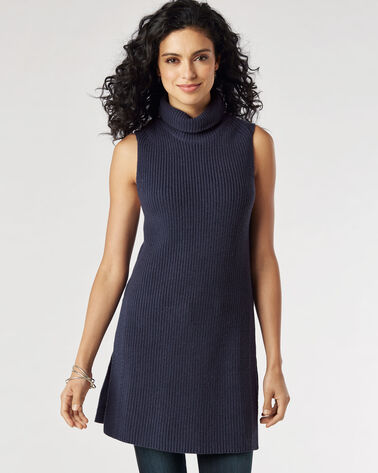 SLEEVELESS TUNIC, INDIGO, large