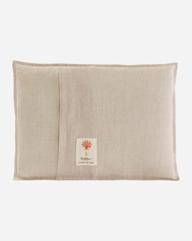 ADDITIONAL VIEW OF SAGUARO BOBCAT POCKET PILLOW IN NATURAL LINEN