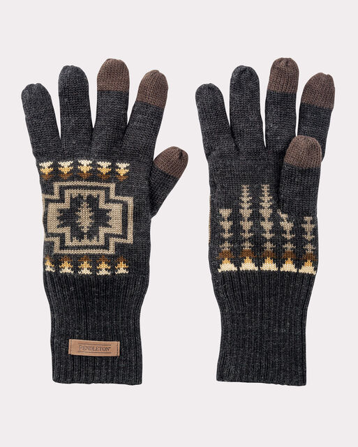 JACQUARD KNIT GLOVES, OXFORD HARDING, large