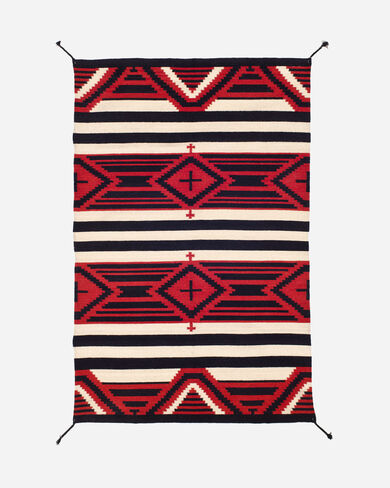 THIRD PHASE CROSSES RUG IN RED/BLACK