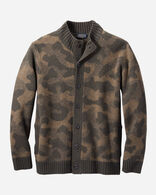 MEN'S CAMO LAMBSWOOL CARDIGAN IN CAMO