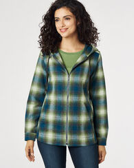 WOOL ZIP HOODIE, BLUE/GREEN OMBRE PLAID, large