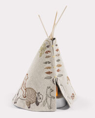 SMALL TEEPEE WITH VOTIVE, LINEN, large