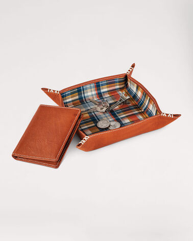 VALET TRAY AND WALLET GIFT SET, HUDSON PLAID, large