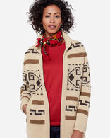LONG WESTERLEY CARDIGAN, TAN/BROWN, large
