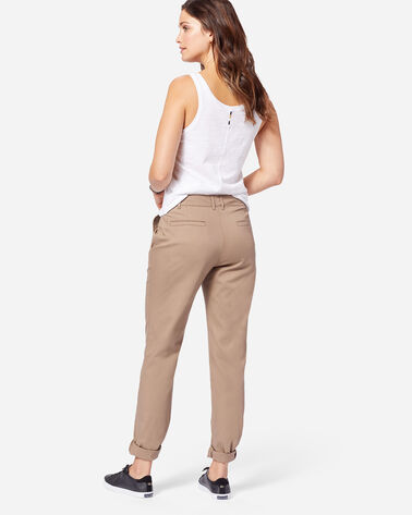 ADDITIONAL VIEW OF BOYFRIEND CHINOS IN TAUPE