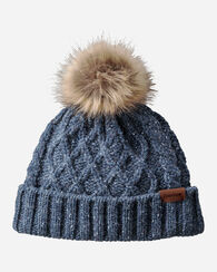 CABLE HAT, BLUE MIX, large