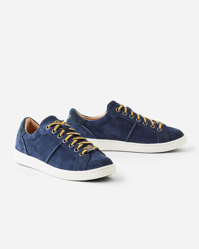 MILO SUEDE SNEAKERS, NAVY, large