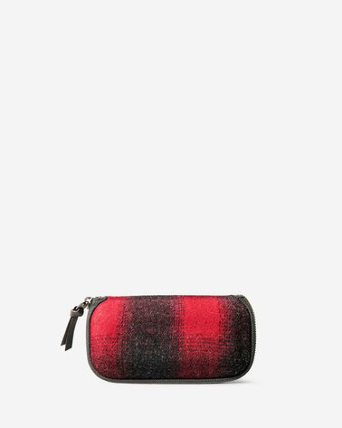 ADDITIONAL VIEW OF BUFFALO CHECK GLASSES CASE IN RED/BLACK OMBRE