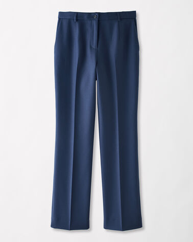 WORSTED WOOL FLANNEL TRUE FIT TROUSERS, BALTIC BLUE, large