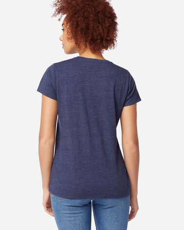 ADDITIONAL VIEW OF WOMEN'S WHISKEY AND WOOL GRAPHIC TEE IN NAVY HEATHER