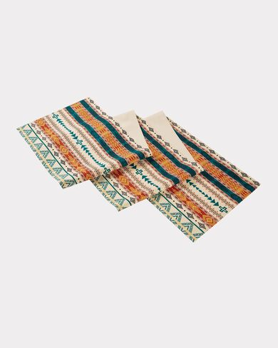BRIGHT MESA TABLE RUNNER, IVORY, large
