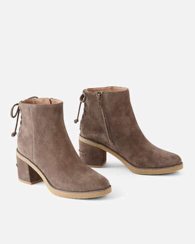 CORINNE LACE-BACK BOOTS, TAUPE, large