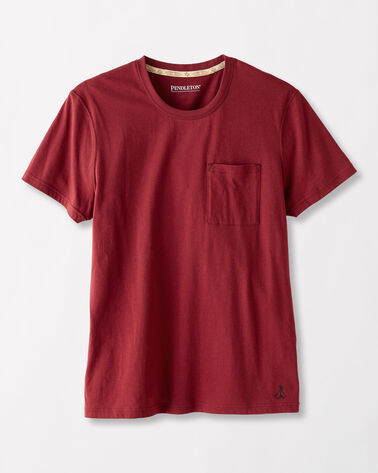 POCKET SLEEP TEE, RED, large