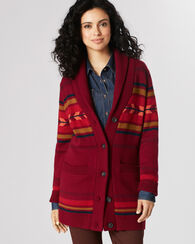STARBURST STRIPE CARDIGAN, BURGUNDY MULTI, large